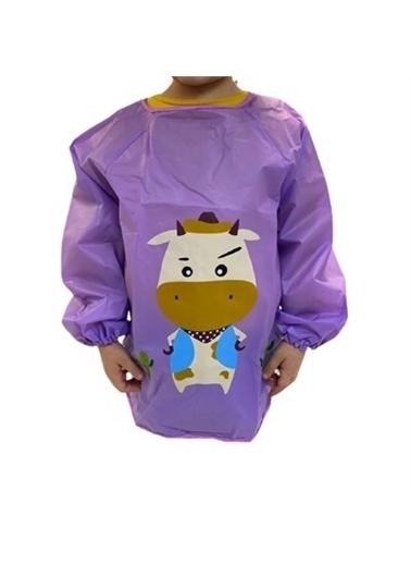Kids A More Purple Cow Unisex Çocuk Aktivite Önlüğü  Mor